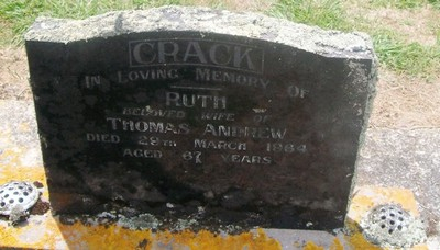 Picture of Taruheru cemetery, block 26, plot 60.