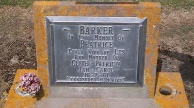Picture of Taruheru cemetery, block 27, plot 179.