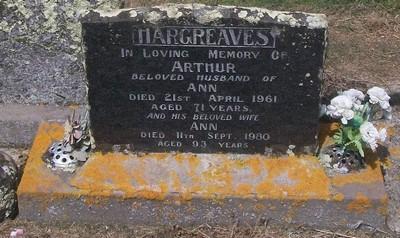Picture of Taruheru cemetery, block 27, plot 187.