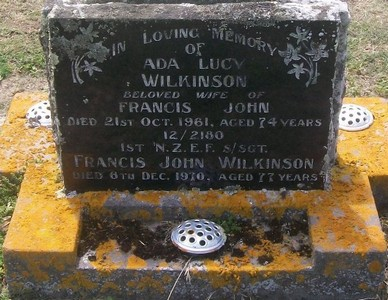 Picture of Taruheru cemetery, block 27, plot 281.
