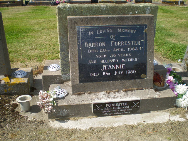 Picture of Taruheru cemetery, block 27, plot 476.