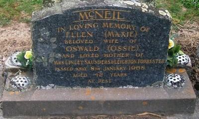 Picture of Taruheru cemetery, block 28, plot 102.
