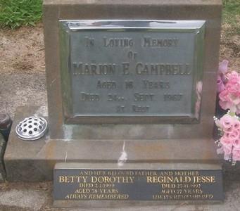 Picture of Taruheru cemetery, block 28, plot 120.