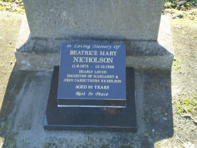 Picture of Taruheru cemetery, block 28, plot 253.