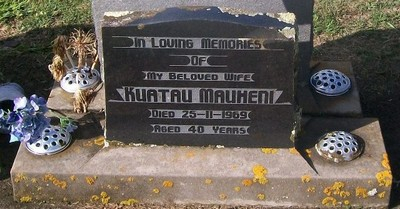 Picture of Taruheru cemetery, block 28, plot 407.