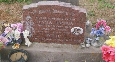 Picture of Taruheru cemetery, block 29, plot 234.