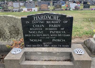 Picture of Taruheru cemetery, block 29, plot 252.