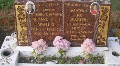 Picture of Taruheru cemetery, block 29, plot 305.