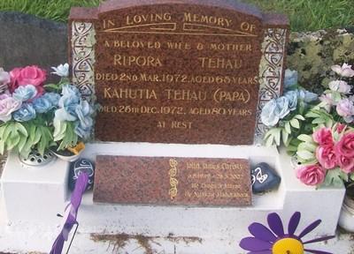 Picture of Taruheru cemetery, block 29, plot 315.