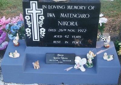 Picture of Taruheru cemetery, block 29, plot 403.