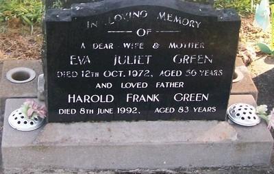 Picture of Taruheru cemetery, block 29, plot 406.