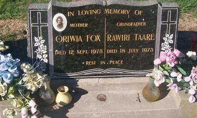 Picture of Taruheru cemetery, block 29, plot 501.