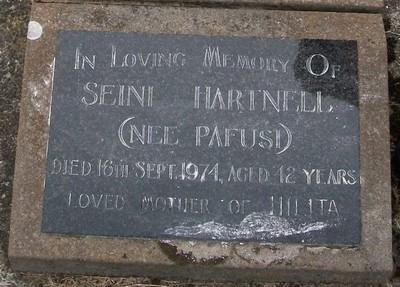 Picture of Taruheru cemetery, block 30, plot 144.