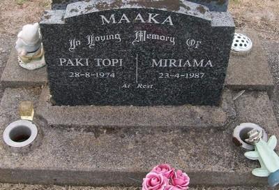 Picture of Taruheru cemetery, block 30, plot 145.