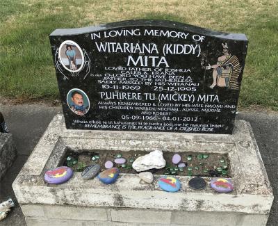 Picture of Taruheru cemetery, block 35, plot 300.