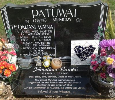 Picture of Taruheru cemetery, block 35, plot 307.