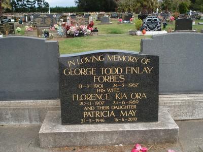 Picture of Taruheru cemetery, block 36, plot 287.