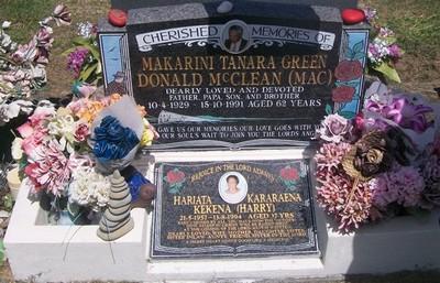 Picture of Taruheru cemetery, block 36, plot 97.