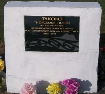 Picture of Taruheru cemetery, block 37, plot 105.