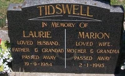 Picture of Taruheru cemetery, block 38, plot 105.