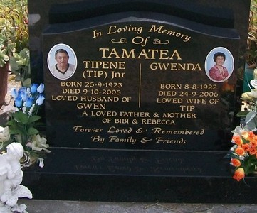 Picture of Taruheru cemetery, block 39, plot 293.
