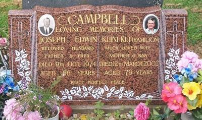 Picture of Taruheru cemetery, block 40, plot 110.