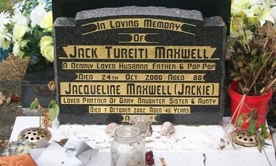 Picture of Taruheru cemetery, block 40, plot 116.