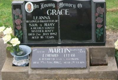Picture of Taruheru cemetery, block 40, plot 208.