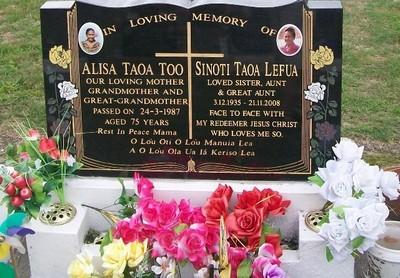 Picture of Taruheru cemetery, block 40, plot 393.