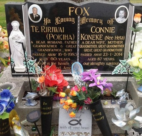 Picture of Taruheru cemetery, block 40, plot 428.