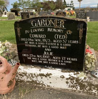 Picture of Taruheru cemetery, block 40, plot 46.