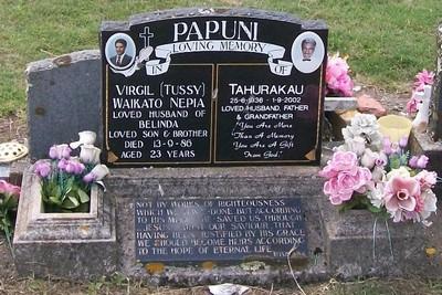Picture of Taruheru cemetery, block 40, plot 502.