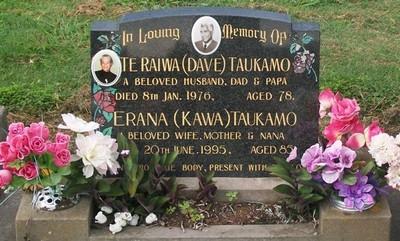 Picture of Taruheru cemetery, block 40, plot 55.
