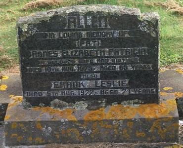 Picture of Taruheru cemetery, block 40, plot 68.