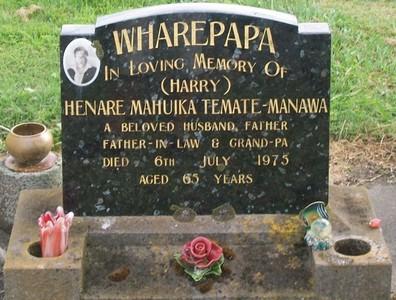 Picture of Taruheru cemetery, block 40, plot 76.