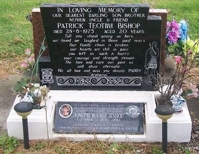 Picture of Taruheru cemetery, block 40, plot 77.