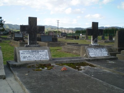 Picture of Taruheru cemetery, block 6, plot 36.