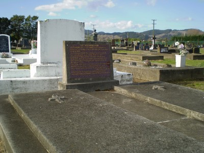 Picture of Taruheru cemetery, block 6, plot 86.