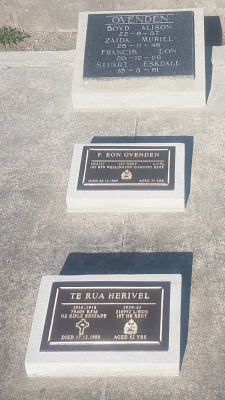 Picture of Taruheru cemetery, block 7, plot 128.
