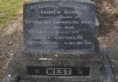Picture of Taruheru cemetery, block 9, plot 6.