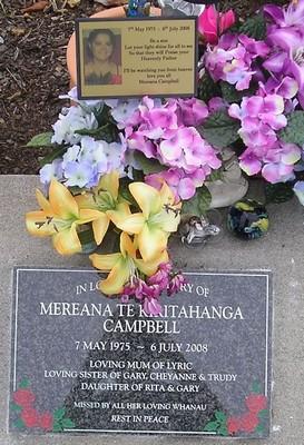 Picture of Taruheru cemetery, block J, plot 933.