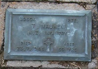 Picture of Taruheru cemetery, block RSA, plot 263.