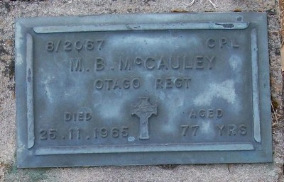 Picture of Taruheru cemetery, block RSA, plot 277.