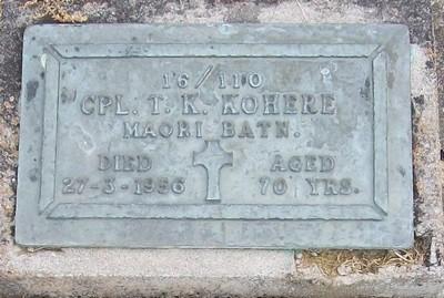 Picture of Taruheru cemetery, block RSA, plot 287.