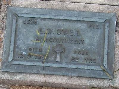Picture of Taruheru cemetery, block RSA, plot 318.