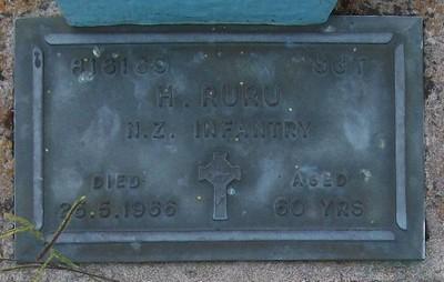 Picture of Taruheru cemetery, block RSA, plot 347.