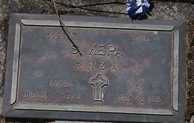 Picture of Taruheru cemetery, block RSA, plot 591.
