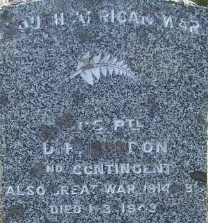 Picture of Taruheru cemetery, block SA, plot 20.