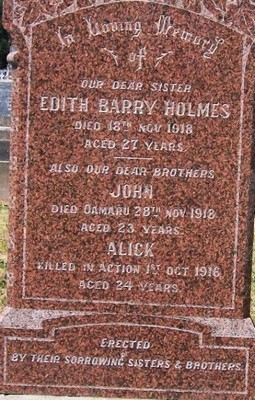 Picture of Taruheru cemetery, block SEC1, plot 161.