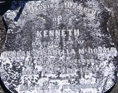 Picture of Taruheru cemetery, block SEC1, plot 498.